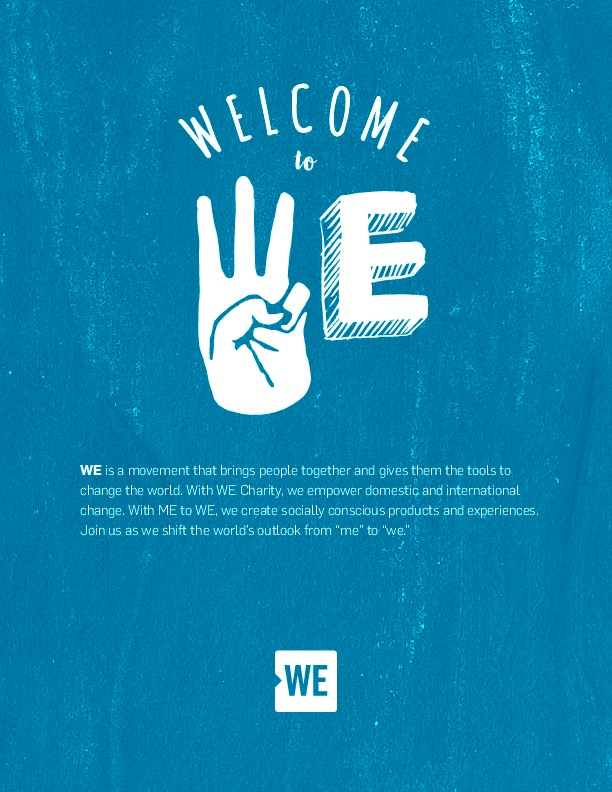 Welcome to WE